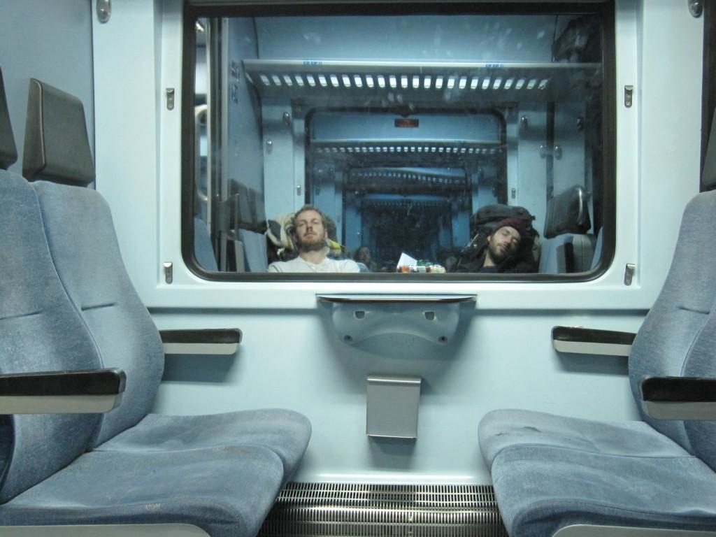 Endlich im Zug nach Thessaloniki
